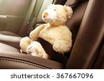 teddy bear fastened in the back ... | Shutterstock . vector #367667096