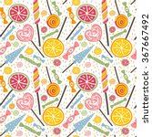 yummy seamless pattern with... | Shutterstock .eps vector #367667492