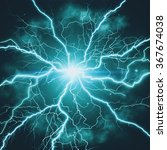 high voltage strike  abstract... | Shutterstock . vector #367674038