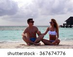 he and she on the beach | Shutterstock . vector #367674776