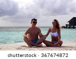 he and she on the beach | Shutterstock . vector #367674872