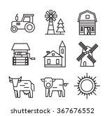 vector black farm flat icons on ... | Shutterstock .eps vector #367676552
