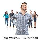 man having a back ache | Shutterstock . vector #367684658