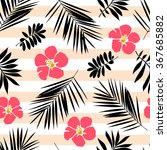 seamless pattern with tropical... | Shutterstock .eps vector #367685882