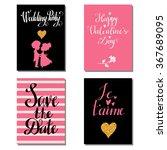 holiday valentines day  wedding ... | Shutterstock .eps vector #367689095