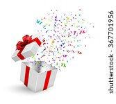 opened 3d realistic gift box... | Shutterstock . vector #367701956