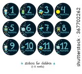 vector set of stickers for... | Shutterstock .eps vector #367702262