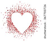red hearts confetti are forming ... | Shutterstock .eps vector #367703726