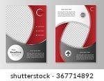 vector flyer template design... | Shutterstock .eps vector #367714892