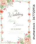 flower wedding invitation card  ... | Shutterstock . vector #367720916