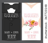 wedding invitation card  bride... | Shutterstock .eps vector #367723148