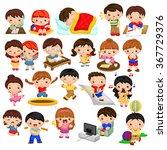 kids activity | Shutterstock .eps vector #367729376