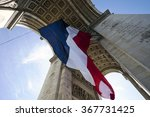arc de triomphe with french... | Shutterstock . vector #367731425