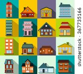 Houses Icons. Houses Icons Art...