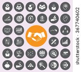 business and finance icons icon ... | Shutterstock .eps vector #367740602