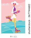aries horoscope sign.... | Shutterstock .eps vector #367744682