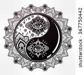 yin and yang boho mandala...   Shutterstock .eps vector #367750442