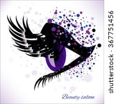 vector eye with make up and...   Shutterstock .eps vector #367751456