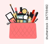 Flat Icon Of Cosmetics Product...