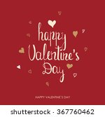 valentines day greeting card.... | Shutterstock .eps vector #367760462