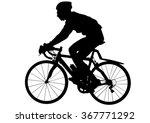 sport man with bike on white... | Shutterstock .eps vector #367771292