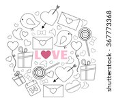 happy valentines day card... | Shutterstock .eps vector #367773368