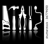 vector icons of joiner's tools | Shutterstock .eps vector #36779050