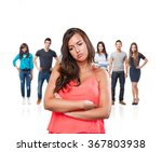 young woman crossing arms | Shutterstock . vector #367803938