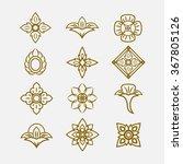 thai ornament  vector set of... | Shutterstock .eps vector #367805126