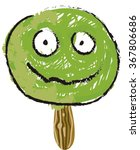 green candy smiling isolated. | Shutterstock .eps vector #367806686