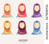 women wearing hijab. avatar... | Shutterstock .eps vector #367808936