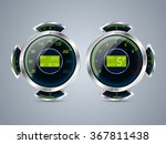 fully digital speedometer rev... | Shutterstock .eps vector #367811438