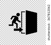 Exit    Black Vector Icon