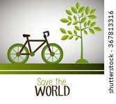 save the world and ecology | Shutterstock .eps vector #367813316