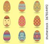 easter eggs  happy easter   Shutterstock .eps vector #367814492