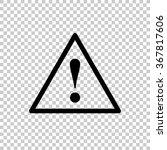 dangerous    black vector icon | Shutterstock .eps vector #367817606