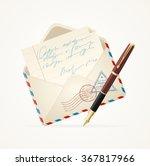letter mail and pen. open...   Shutterstock .eps vector #367817966