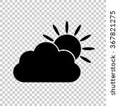 weather icon    black vector... | Shutterstock .eps vector #367821275