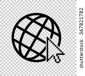 internet    black vector icon   Shutterstock .eps vector #367821782