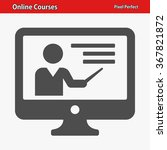 online courses icon.... | Shutterstock .eps vector #367821872