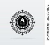 vintage logo template | Shutterstock .eps vector #367824872