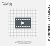 film strip with play   black... | Shutterstock .eps vector #367825262