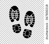 shoe print    black vector icon | Shutterstock .eps vector #367830218