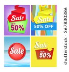 sale poster   set of... | Shutterstock .eps vector #367830386