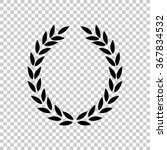laurel wreath    black vector... | Shutterstock .eps vector #367834532