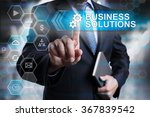 business solutions concept.... | Shutterstock . vector #367839542
