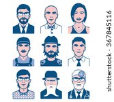users avatars. occupation and... | Shutterstock .eps vector #367845116