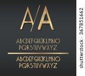 two types of golden art deco... | Shutterstock .eps vector #367851662