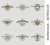 set of hipster vintage labels ... | Shutterstock .eps vector #367852115
