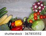 vegetables on a wooden... | Shutterstock . vector #367853552